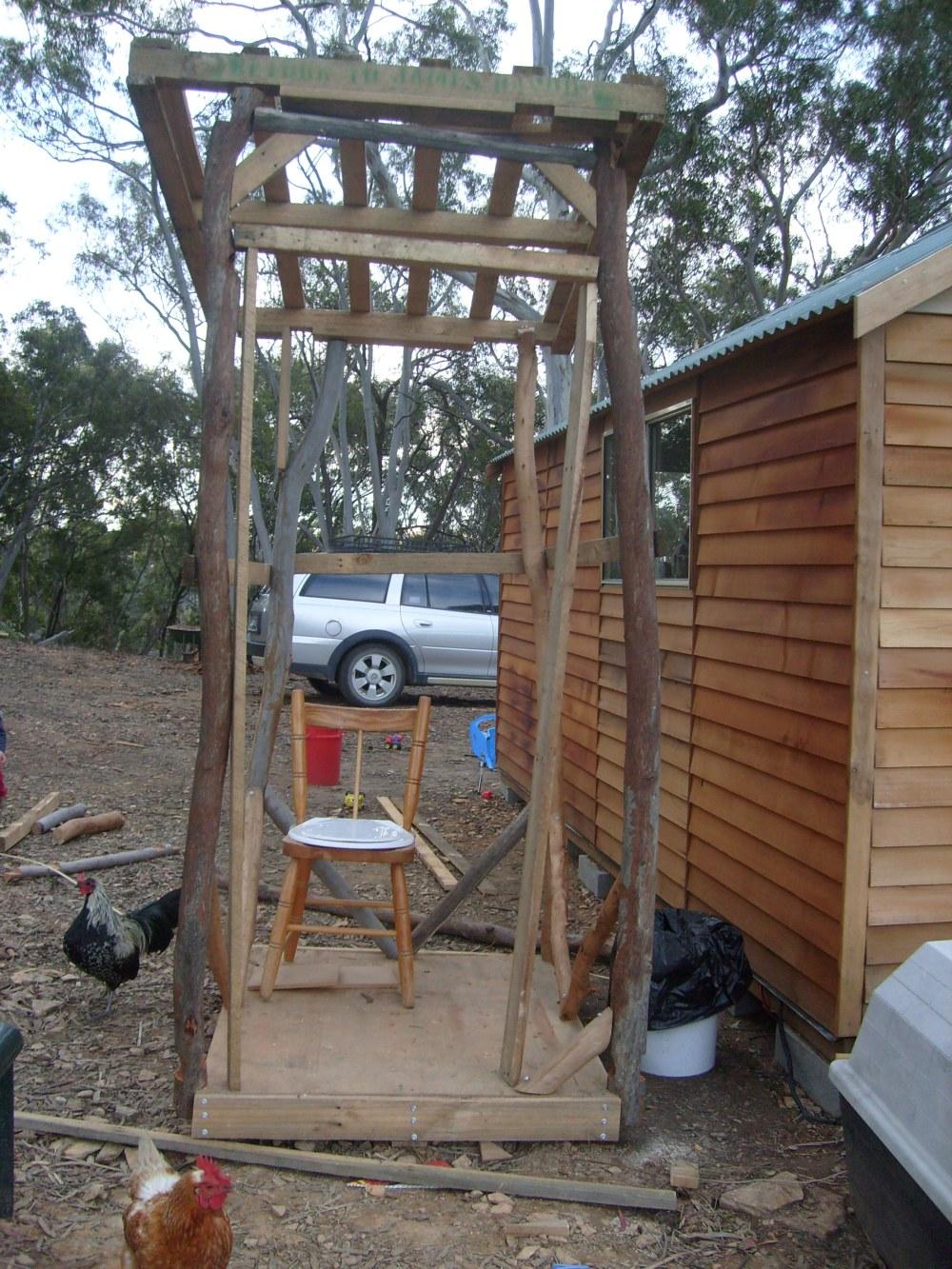 Outhouse frame